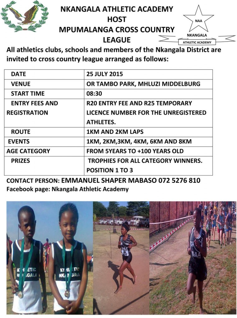 Nkangala Athletic Academy Host Mpumalanga Cross Country League