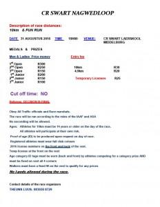 CR Swart - 31 August