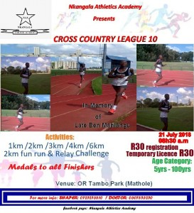 Cross Country - League 10 - Mhluzi flyer